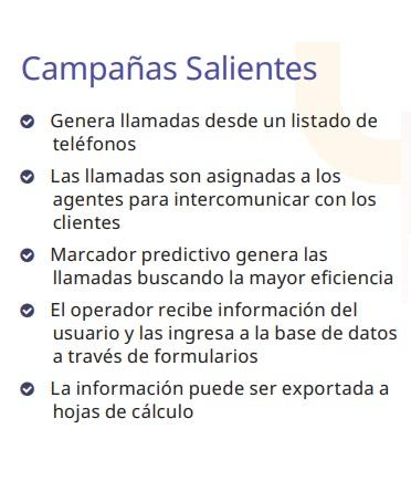 Campañas-Salientes Call Center